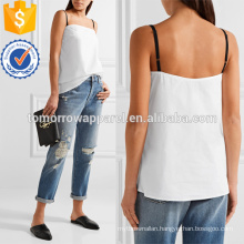 White Cotton-poplin Camisole Manufacture Wholesale Fashion Women Apparel (TA4139B)