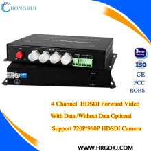 4 canal hd sdi transmissor de vídeo transmissor e receptor de fibra óptica sdi para transmissão