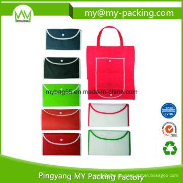 Hohe Qualität Print Werbe Gefaltete Nonwoven Einkaufstaschen