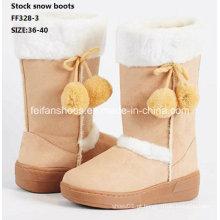 Botas de injeção mais recentes high-cut botas de neve confortáveis botas de inverno sapatos de ações (ff328-3)