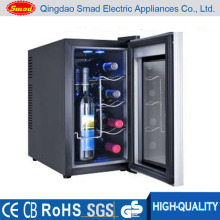 No Noise Glass Door Semi-Conductor Wine Cooler Without Compressor