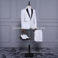 2018 New Arrival IOne Button Off White Color Men Suits in storck Cheap sale Men pants