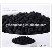 Coal based column of activated carbon