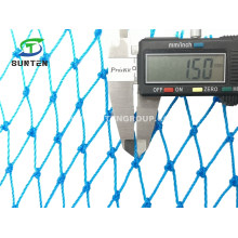 Blue HDPE Cargo Net, Fall Arrest Net, Safety Catch Net, Cargo Climbing Net, Pallet Rack Nets for Storage, Webbing Indoor Netting.