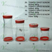 Набор стеклянной бутылки для хранения в стеклянной бутылке
