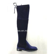Neueste Mode Elastische Oberschenkel Frauen Stiefel
