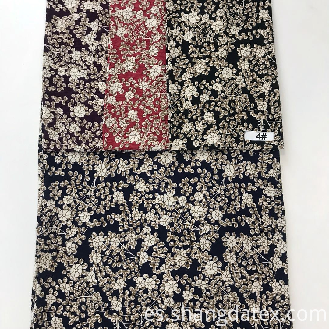 small flower design rayon crepe fabric
