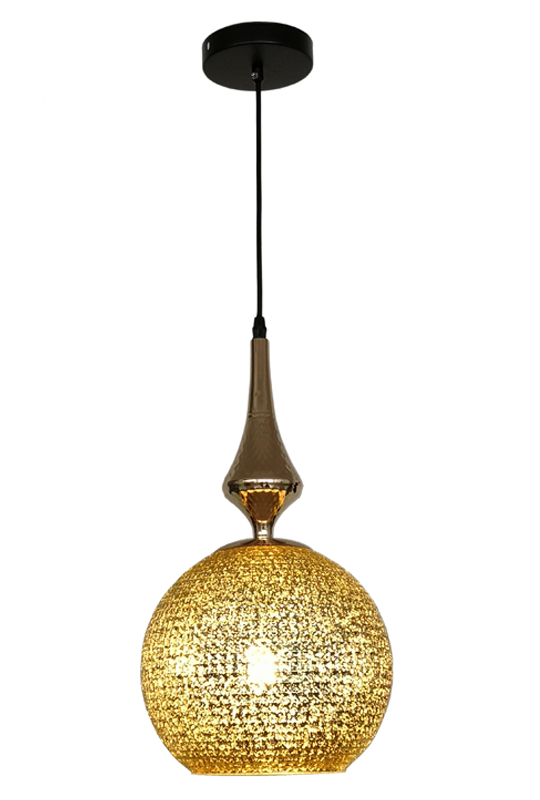 Golden Glass Chandelier