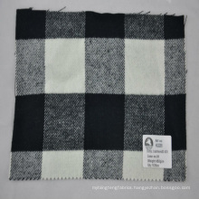 check fine quality woolen coat cashmere acrylic fabric