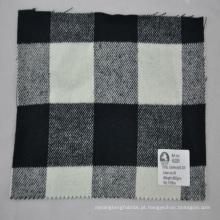 verifique a qualidade fina casaco de lã cashmere tecido acrílico