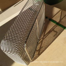 Heat treatment Fecral wire mesh basket / metal mesh basket