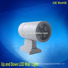 Serie del tambor arriba y abajo de las luces llevadas pared 3w 5w 6w 7w 9w 12w 18w llevaron la luz al aire libre de la pared impermeable IP65 llevaron la luz de la pared
