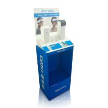 Pantalla impresa de cartón para masajeador de ojos, pantalla de Dumpbins POS