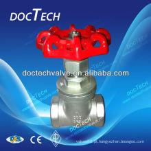 Válvula de porta de aço inoxidável BSP