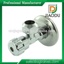 Chinese manufactuer cw617n OEM precision cnc yellow metal handle toilet copper brass stop style angle valve with nut
