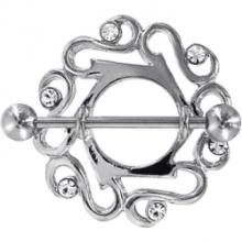 Gem de cristalina mamilo celta bonito escudo