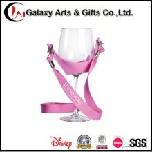 Colhedor de titular copo de vinho do poliéster PVC personalizado para o negócio