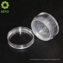 Dekorativer Körper scheuert Gläser rundes kosmetisches Pulver-Felsenglas des Plastikkosmetischen losen Pulvers leeres kundenspezifisches