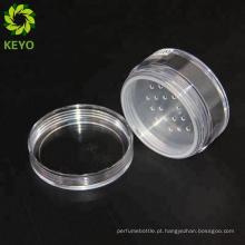 Frascos de esfoliação corpo decorativo rodada plástico cosméticos solto pó vazio personalizado garrafa de pó de cosméticos em pó frasco de rocha