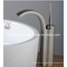 Mezclador de lavabo de una manija cepillado con níquel (Qh0526s)