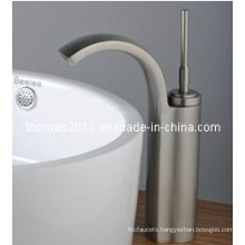 Nickle Brushed Single Handle Basin Mixer (Qh0526s)