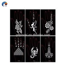 Таинственный хна стикер трафарет для невесты,наклейки тату хной в YinCai