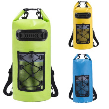 20L Roll Top Dry Compression Sack 500D PVC Camping Floating Backpack Waterproof Dry Bag