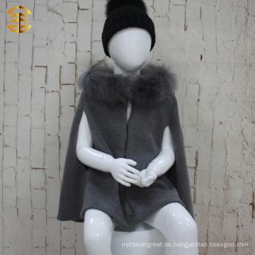 Neue Art- und Weiseherbst-Winter-Europa-Art-Kind-Mantel-Jacken-Mantel-Mädchen-Kap-Mantel