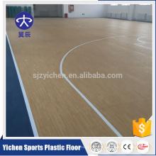Yichen professionnel producteur PVC sport plancher en plastique antidérapant backetball étage