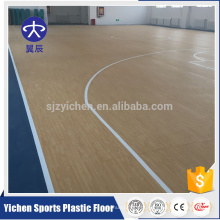 Yichen profissional produtor PVC esportes piso plástico antislip backetball chão
