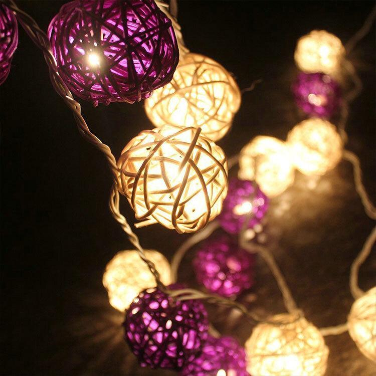 rattan light string