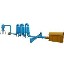 Máquina de secado de secadora de madera de aserrín de tubería de la estufa para la venta