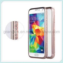 Samsung S5 teléfono diamante caso parachoques, parachoques para Samsung S5