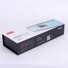 Cadeau d'emballage de boîte de papier magnétique noir pour l'électronique