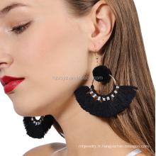 Vente en gros Boucles D'oreilles Pom Tassel Pour Bijoux Femmes