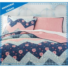 Cherry Blossom Zig-Zag Printed Cotton Duvet Cover Bedding