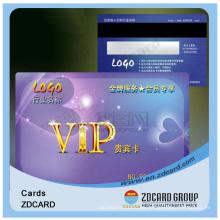 Tarjeta de visita plástica de visita Tarjeta transparente de inyección de tinta de PVC