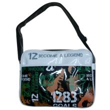 Мальчик школа слинг сумка блестящий материал водонепроницаемый мешок