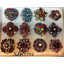 Bague en cristal de luxe multicolore (XJW1762)