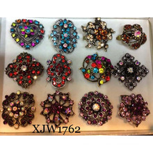 Multi Colorful Luxurious Crystal Ring (XJW1762)