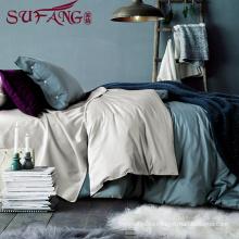 High Quality Hotel Home Bedding Linen Supplier 100% Cotton60s Plain pink Bedding Set