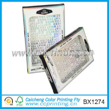 Fancy flat pack plastic window usb flash drive packaging box