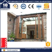 Puerta de doble plegado de aluminio / sistema de puerta plegable