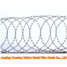Razor Wire Fence / Barbed Razor Wire / Galvanized Razor Wire / PVC coated razor wire / barbed wire ---- 30 years factory