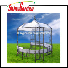 Im Freien Stahlrahmen rund geformt Metall Patio Garten Pavillon