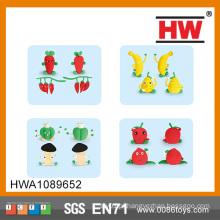Brinquedos para crianças Plasticine And Modeling Brinquedos de frutas e legumes de argila set