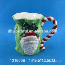 Taza de cerámica encantadora de la Navidad de santa