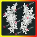 pair embroidery applique for garments