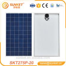 baixo custo Poly 275 w módulo pv 1000 watts painel solar preço india