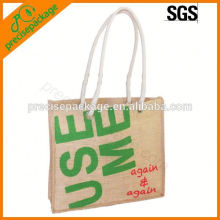 super market shopping jute bags with round handles